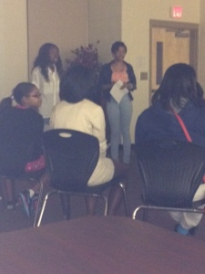 Founder, Jessica and VP, Denee talking to R.O.S.E.S