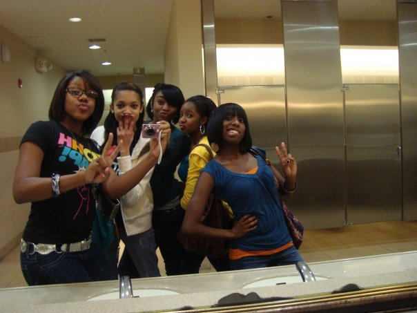 Circa 2009. 16-17 years old. This is how we looked in high school. And yes that is co-founder, Kindra on the far left and Pres., Raven next to her.