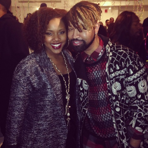 With Ty Hunter (Beyonce's Stylist)