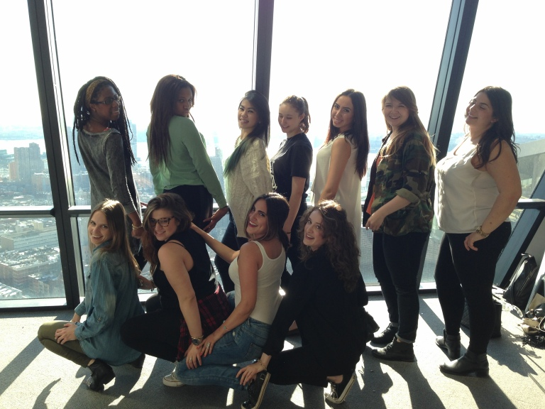 A [seriously] awkward photo of the spring 2014 Cosmo interns lol