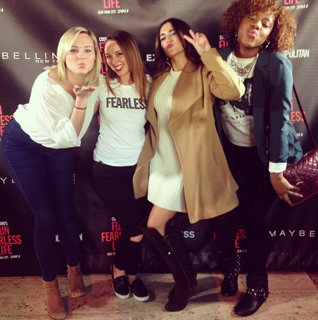 With my former Cosmo Interns (Left to right) Erika, Alysia, Tori Lazar, Me (Kindra Mone')